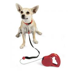 Walkabout Retractable Leash (Cord) - Small Red