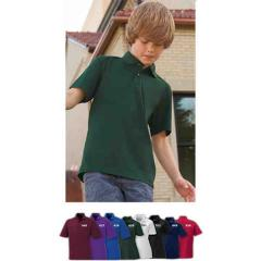 Youth snag protection short sleeve polo