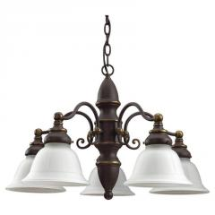Bronze Down Mini Chandelier