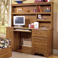 Computer Desk with Shelf Storage and Tower Door