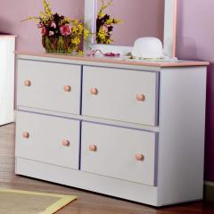 4 Deep Drawer Dresser with Roller Glides Miami by