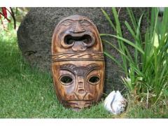 "Fijian tiki mask - 8"" love &"
