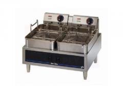 Twin Pot Countertop Electric Fryer, Star STM530TEB