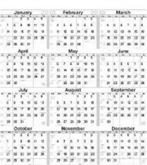 752 Calendar