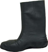 2X Black Tactical Heavy Gauge Latex Boot Covers,
