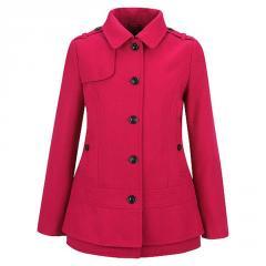 Girl's Black Rivet Tiered Bottom Wool Jacket
