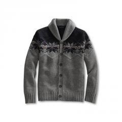 Men's Regular Shorewood Nordic Shawl Collar Cardigan Sweater