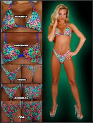 Neon Flower Separates Swimwear