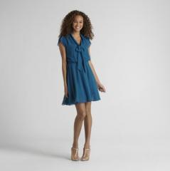 Attention Women's Pleated Chiffon Dress