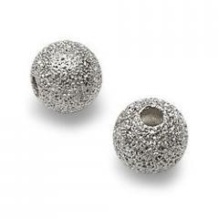 4mm Silver Plate Stardust Bead
