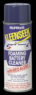 Foaming battery cleaner
