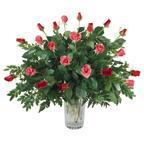 Two Dozen Roses Arranged