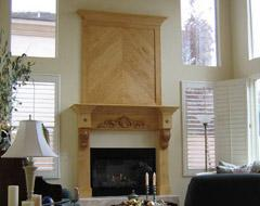 Fireplace surround or mantle