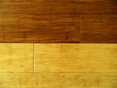 E-Boo Flooring is strands of bamboo