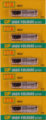 GP 27A 5-Pack, Replaces: A27, S27, MN27 Electronic