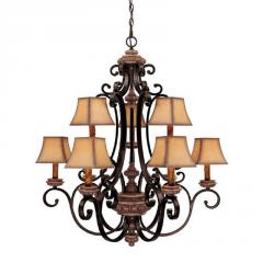 Nine Light Up Chandelier LUMR