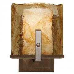 One Light Bronze Wall Light JLN5