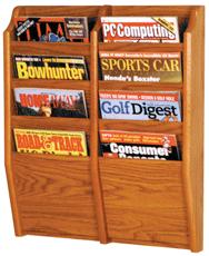 Cascade™ Oak Magazine Racks