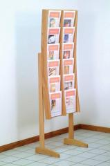 Stance™ Oak & Acrylic Literature Displays