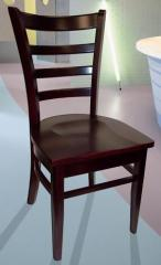 Dark Red Mahogany Hardwood Chair, Model 3102W DRM