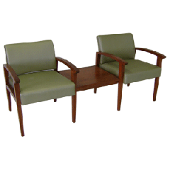 Modular Open Backed Seat with Middle Table,