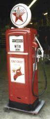 Restored 30's to 50's era gas pumps
