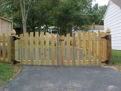 Custom Wood Entry Gates
