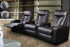Contemporary Leather Home Theater Seating, Coaster