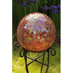 Garden Decor, Teardrop Mosaic Gazing Ball