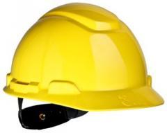 3M™ Hard Hat, Yellow 4-Point Ratchet Suspension
