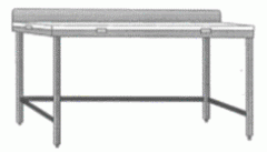 Stainless Steel Cutting Table with Back splash and
