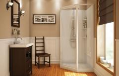 Corner Glass Panel Shower