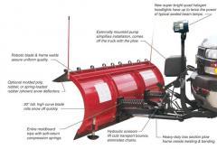 Heavy-Duty Full-Trip Steel Conventional Snowplow