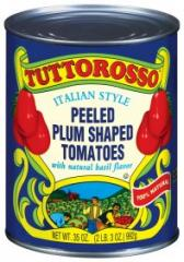 12 pk 35 oz Tuttorosso Whole Plum Tomatoes w/Basil