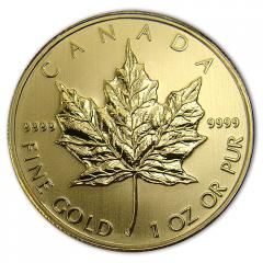 2012 Canadian Gold Maple Leaf Coins - 1oz.