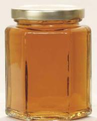 Glass hex jar