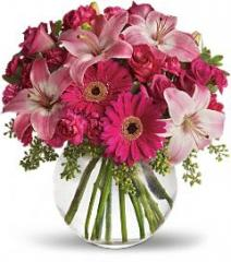 Teleflora's A Little Pink Me Up Bouquet