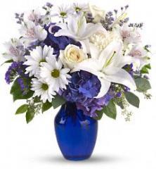 Teleflora's Beautiful in Blue Bouquet