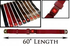 """2-Point Non-Retractable 60"""" Lap Belt w/Push"""
