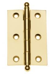 Solid Extruded Brass Mortise Cabinet Hinge: