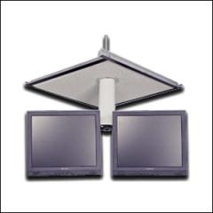 Dual LCD Monitor Ceiling Bracket