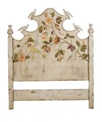 King Headboard W/Carved Birds