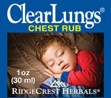 ClearLungs - Chest Rub Homeopathic Decongestant