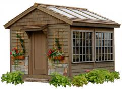 Garden Getaway Potting Shed-Greenhouse