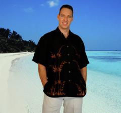 "Mens Hawaiian Aloha Shirt ""Bamboo"