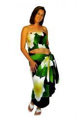"Sarong Set Hawaiian Style ""Plumeria"""