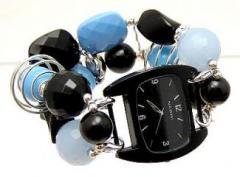 Blue and Black Watchband