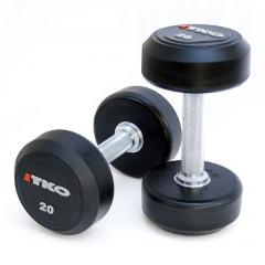 Solid Steel Urethane Dumbbells