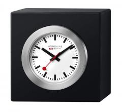 Mondaine Cube Black Desk Clock
