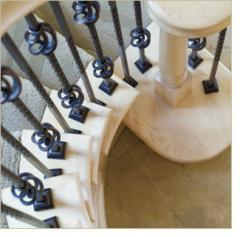 Crown Heritage's handcrafted forged iron balusters